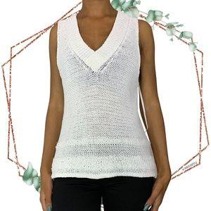 Rag & Bone open knit v neck sleeveless sweater L